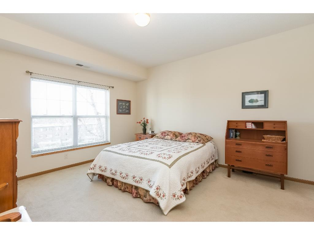 Large yet cozy master bedroom suite. Plenty of room for a large bed and additional furniture.