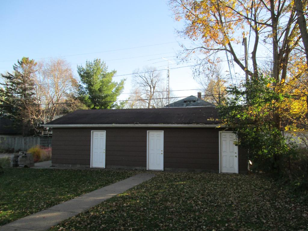 Individual single car garage for each unit