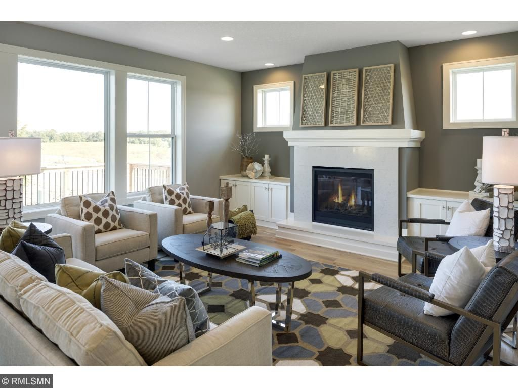 model pic-fireplace and main floor great room