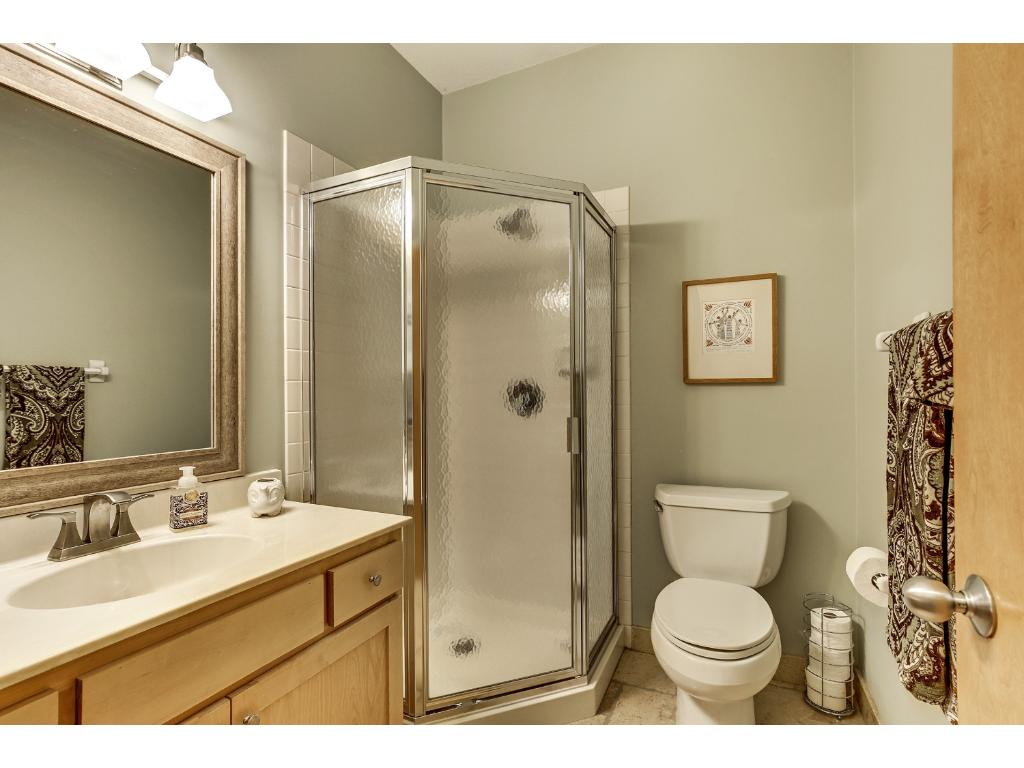 Just outside the main floor bedroom is a main floor 3/4 bath.