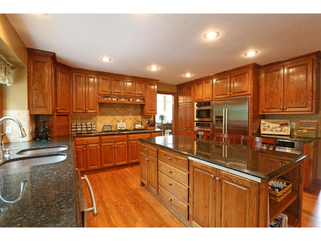Large updated kitchen with double oven