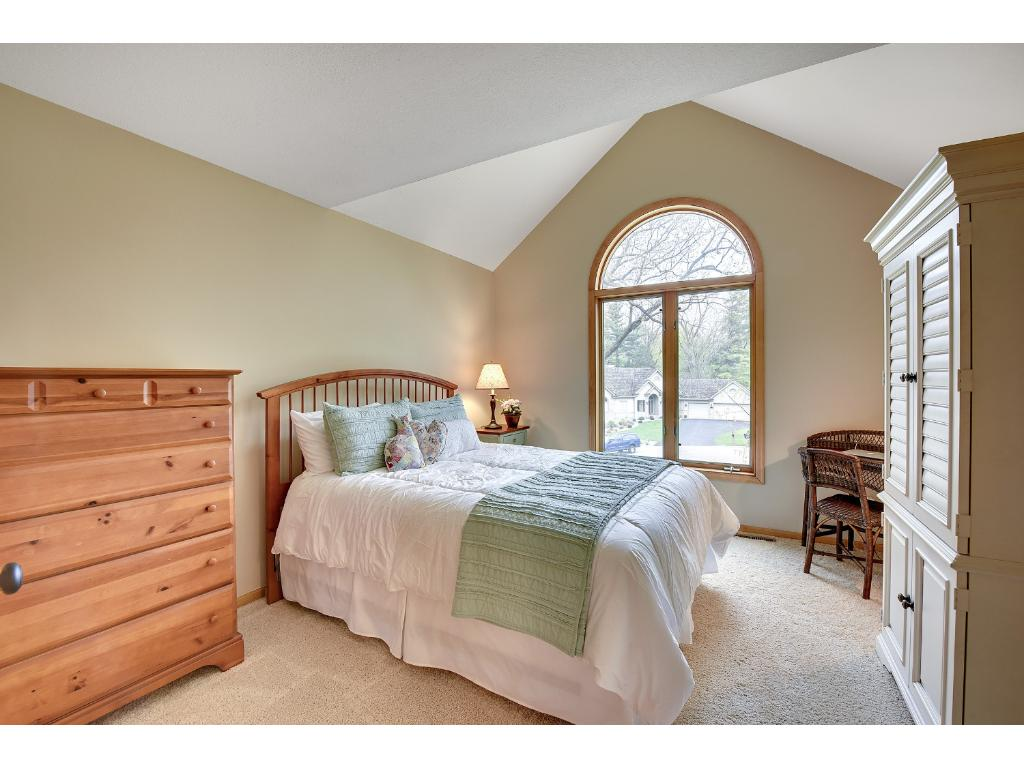 Junior Suite with vaulted ceiling and Full Bathroom.