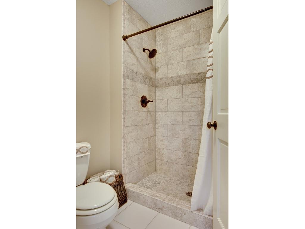 Master Bathroom shower & toilet room.