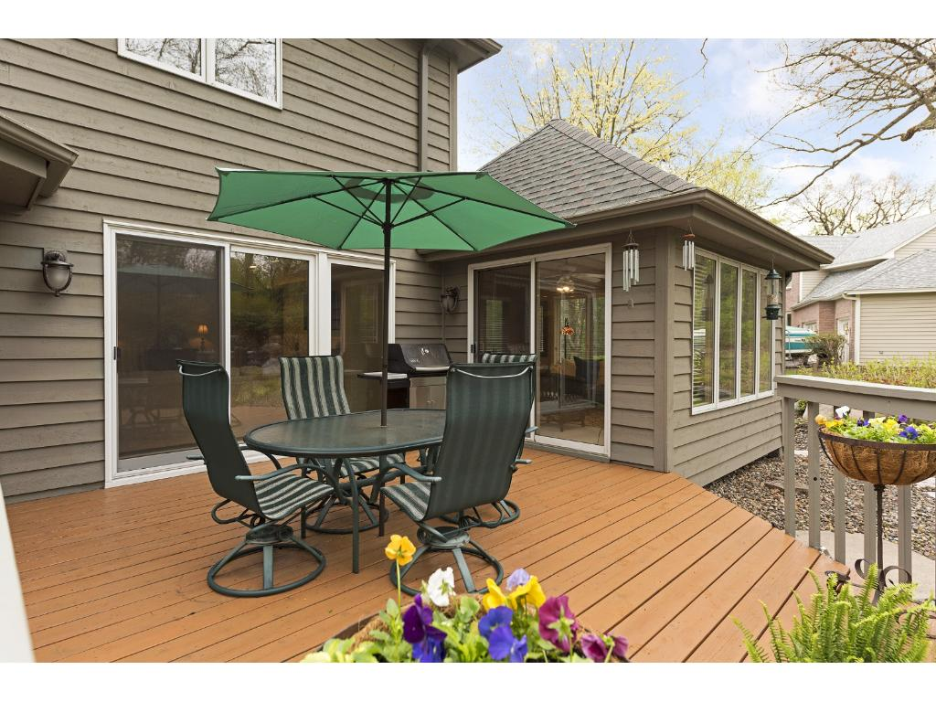 The Deck is easily accessible from the Family Room and Sunroom.