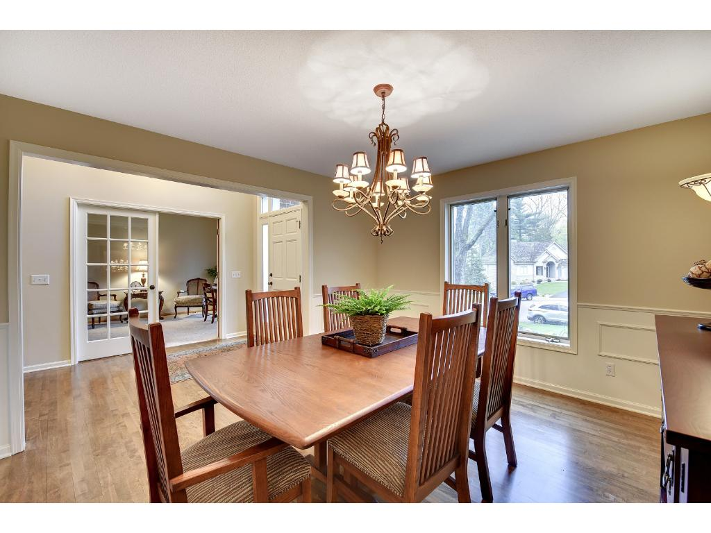 Located across the hall from the Formal Dining Room is the Office with French doors.