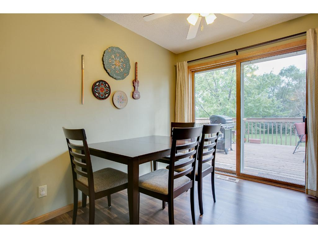 Dining room showing the walk out to the deck