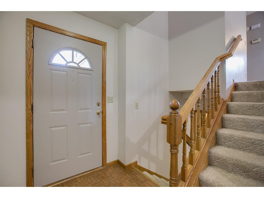 This is not your typical split entry style home. The landing is spacious and has a huge walk in closet just off the entrance