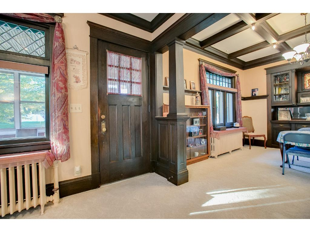 Gorgeous woodwork welcomes you into this lovely home!