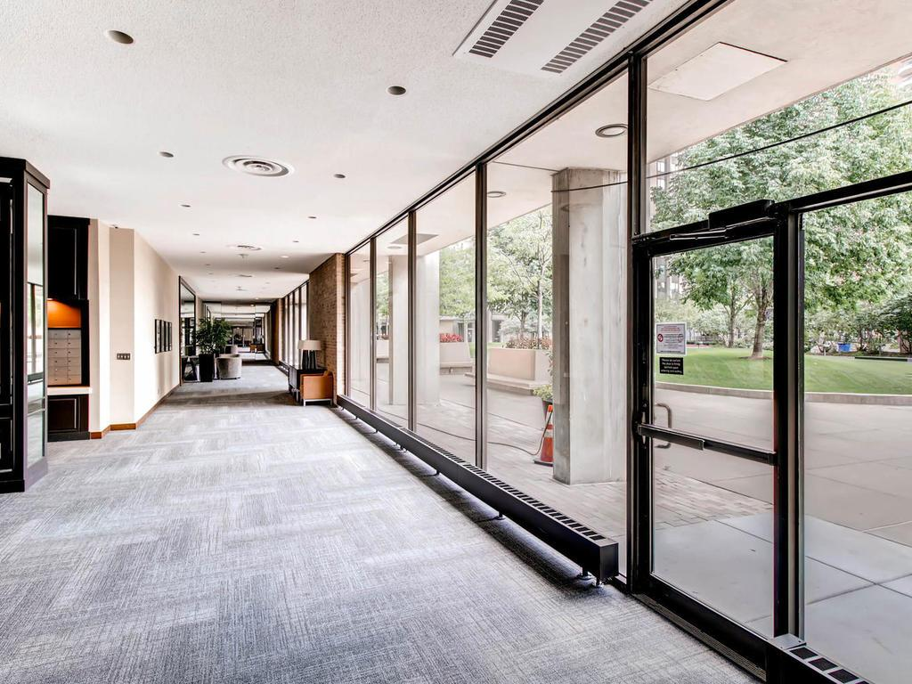 Huge  elegant lobby with floor to ceiling windows running along the entire length of the complex.  Impressive welcome to your guests.