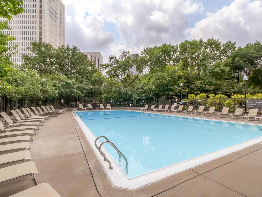 80 foot  heated lap pool with resort like seating.