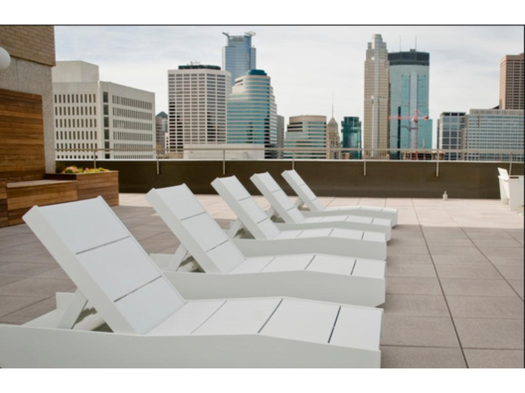 roof top patio with breathtaking 360 view of city.