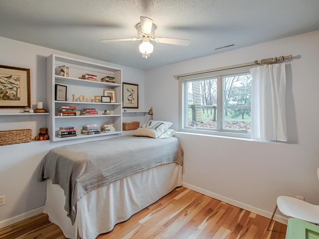 One of four spacious bedrooms
