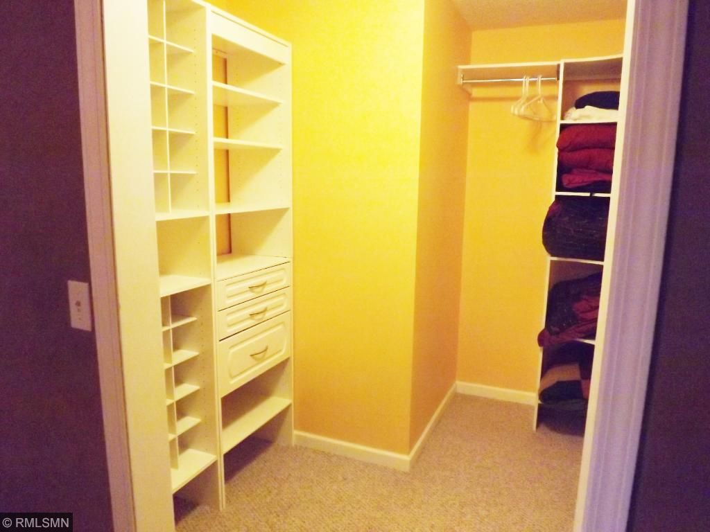 Custom walk-in closet is an awesome addition.