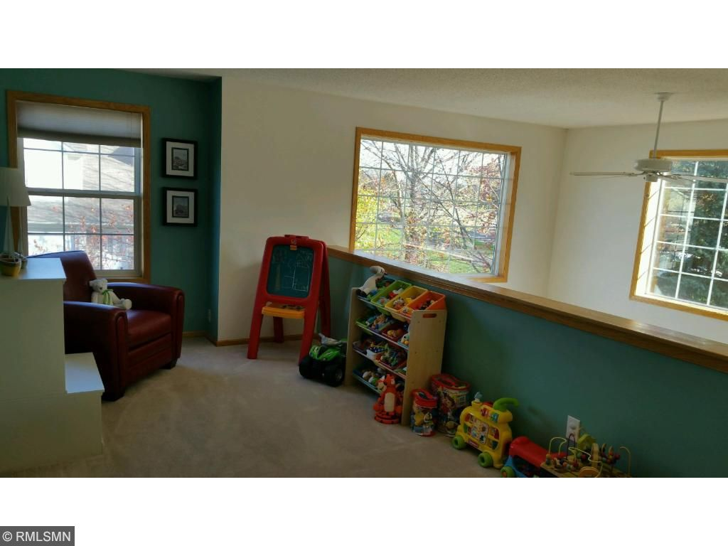 The loft is a great additional space for another living space, office or play area.  Take a seat and read your favorite book!