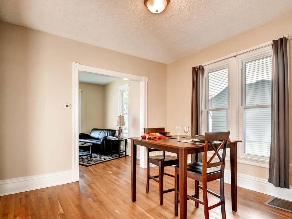 The spacious dining room will be perfect for hosting the next gathering.