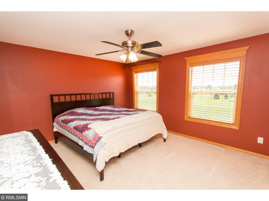 Master bedroom features large walk in closet & full private bathroom.