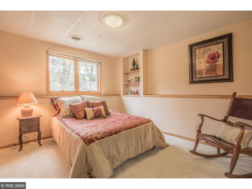 Spacious secondary bedrooms with large closets.