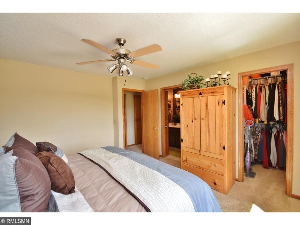 Master suite with walk in closet and full walk-thru bath!
