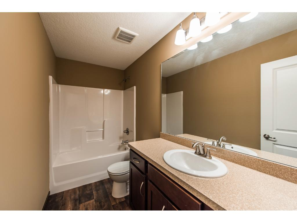 The Main Bathroom has an upgraded Full Bath/Shower Surround and a Large Countertop.