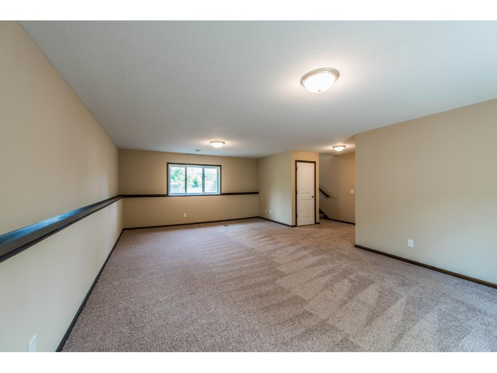 Vast Walk Out Family Room. Pool Table, Game Room, Movie Theater... whatever you come up with this Space can accommodate.