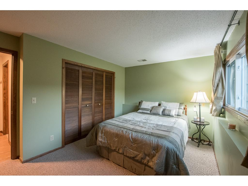 Larger of the 2 bedrooms.