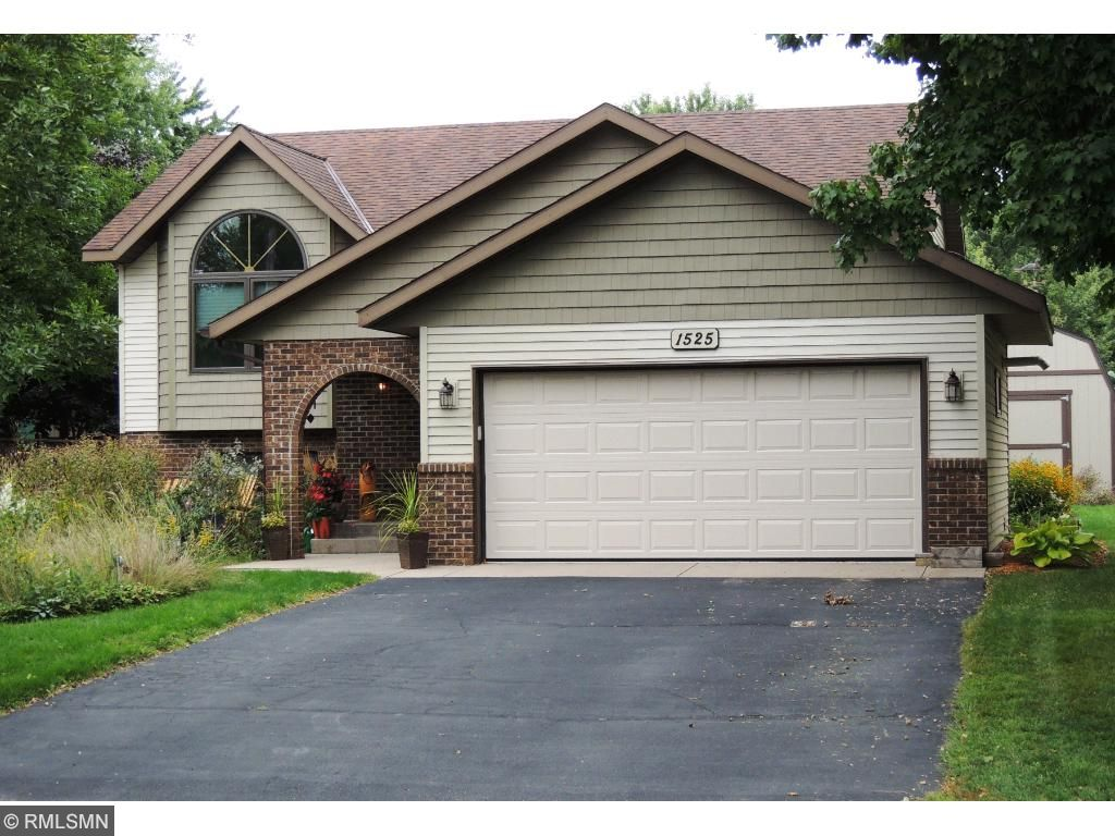 Amazing curb appeal.  Recently transformed with Steel siding & shakes, lights and insulated garage door