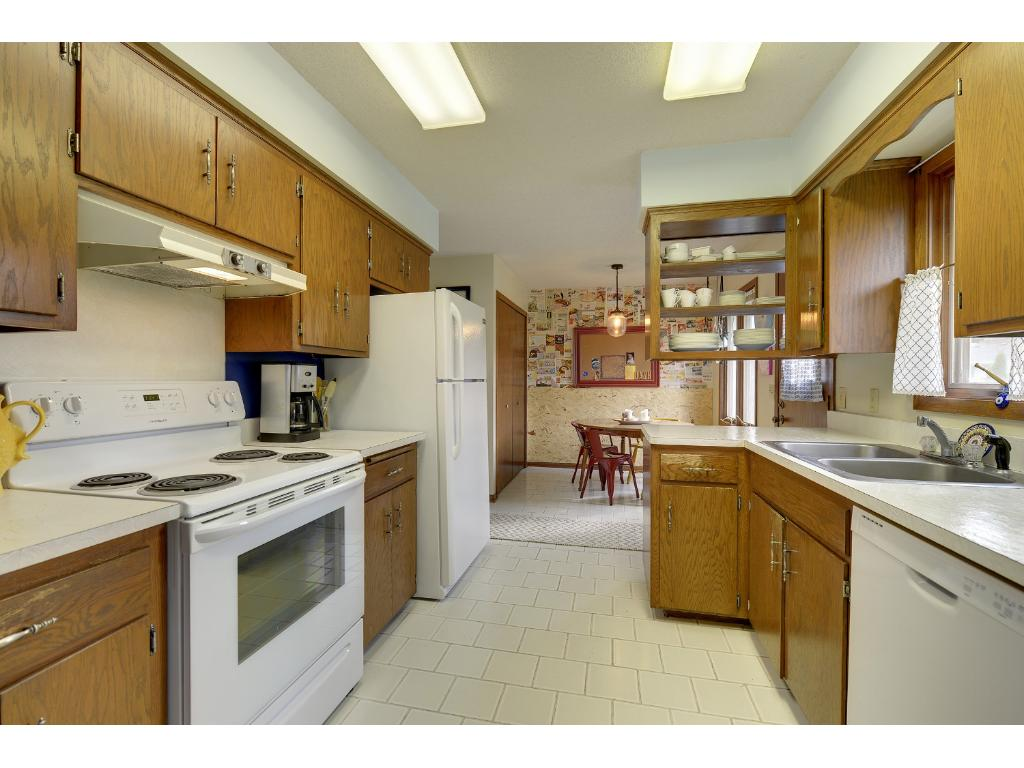 Kitchen with informal dining area.