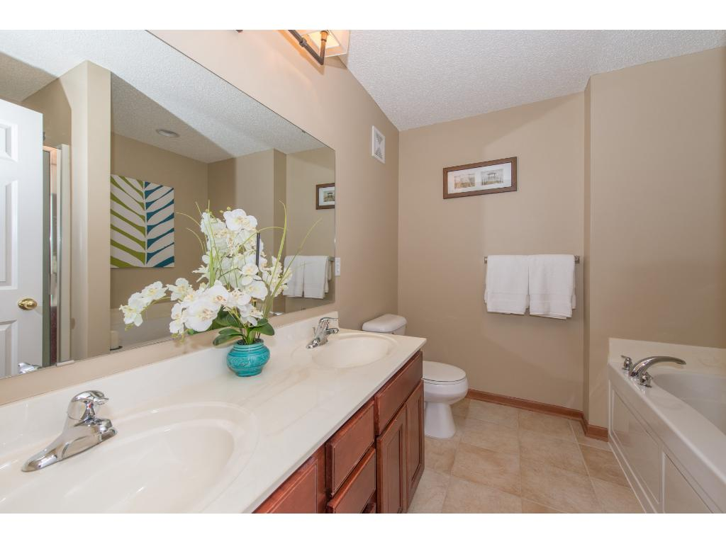 Master Bath with Double Vanity, Whirlpool Tub & separate Shower