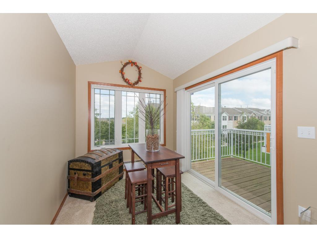 Sunroom offers great views & walks out to the Deck