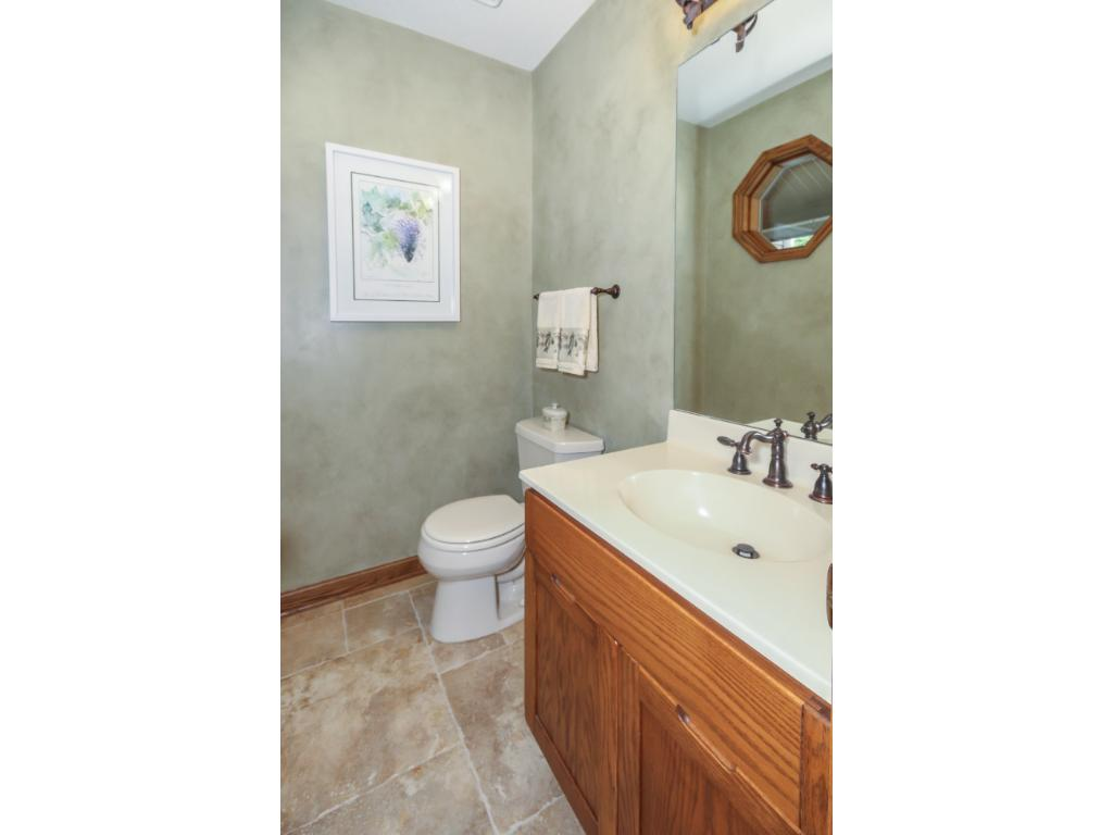 Convenient powder room for guests!