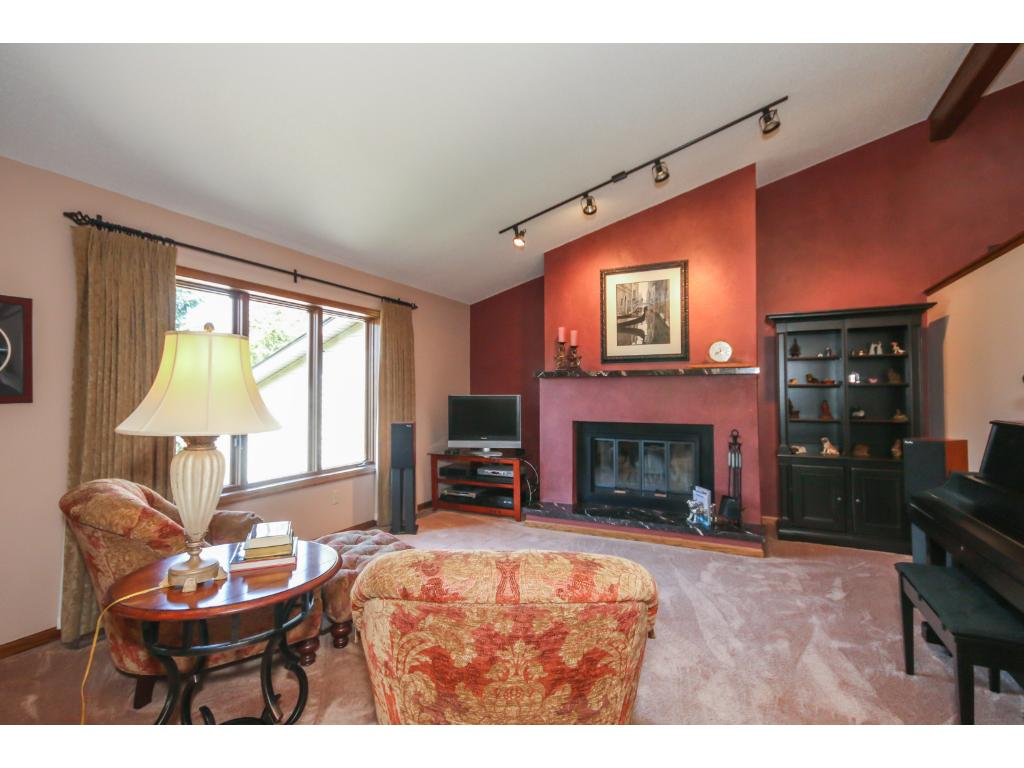The open main levels flows easily up to the living room!