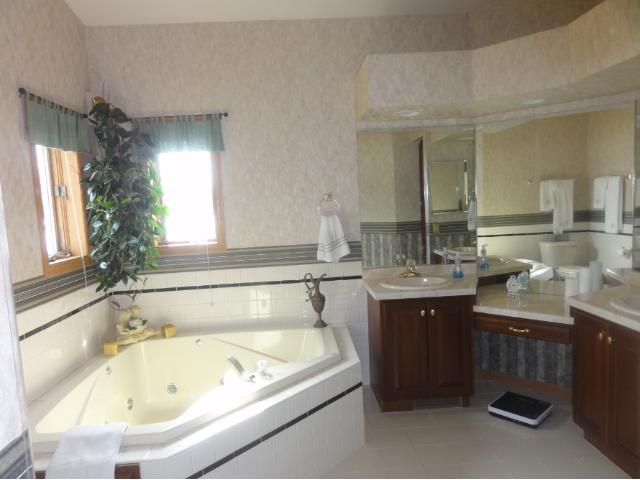 Master Bath separate tub and shower.