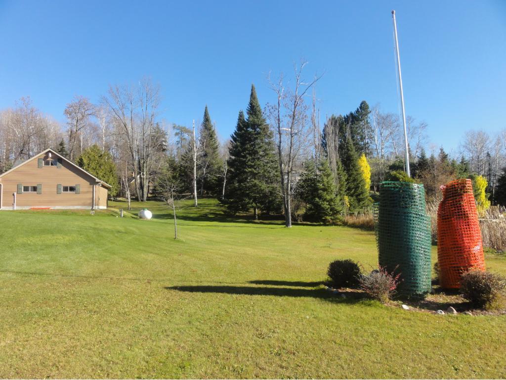 Side Lawn Behind garage!