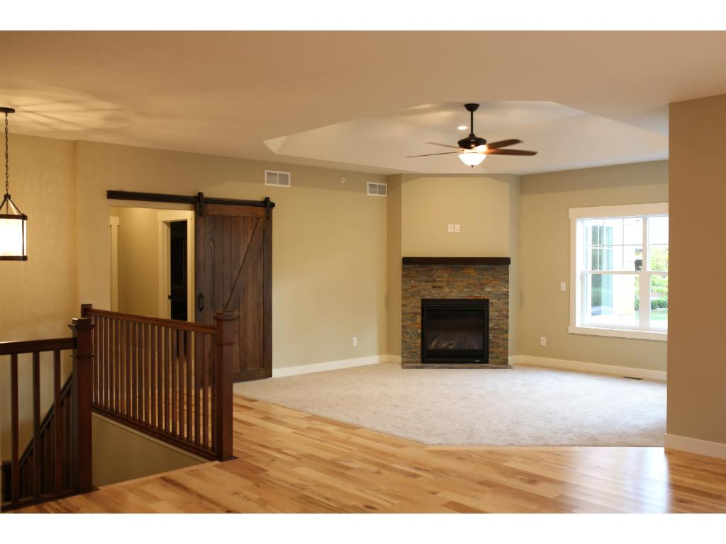 Open main level floor plan is great for everyday life and entertaining.