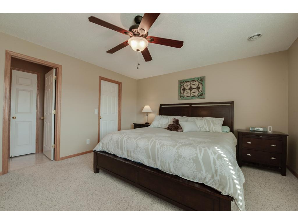 Alternate view of the master suite. Crisp white 6-panel doors can be found thru-out the home.