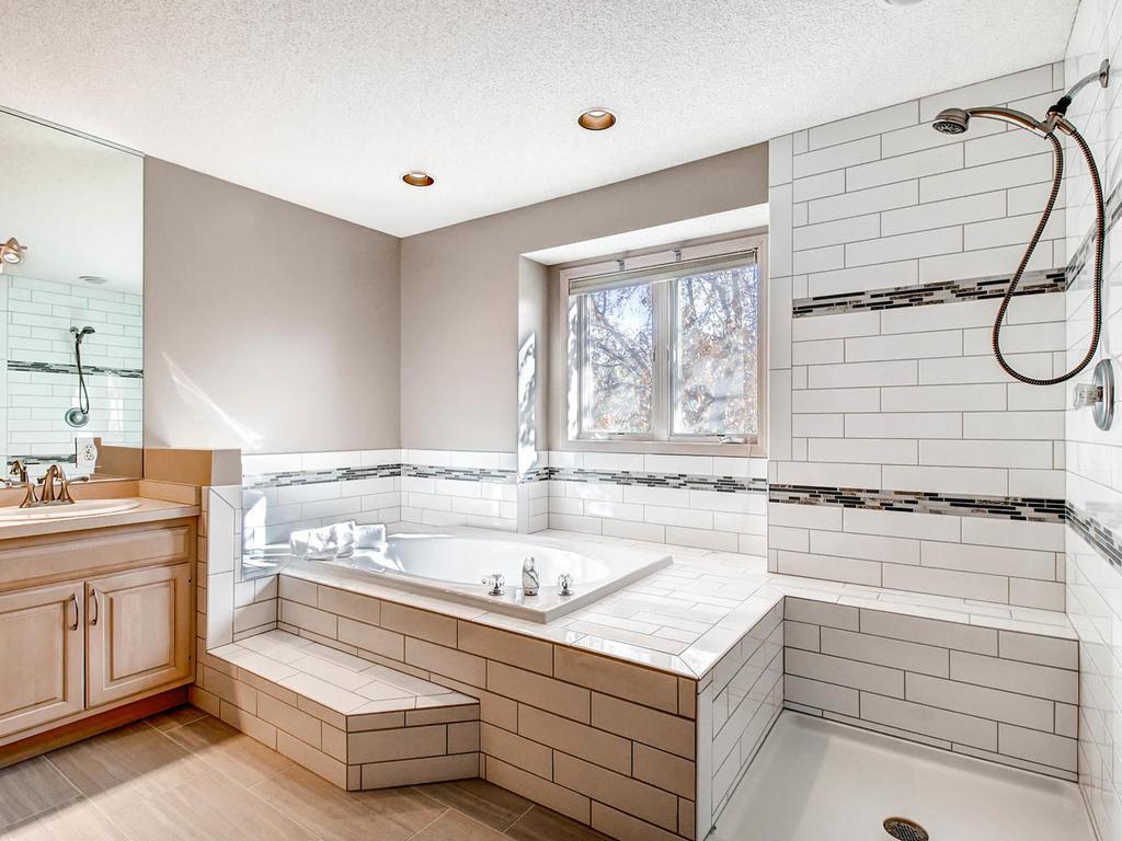 New tile - shower glass still coming!