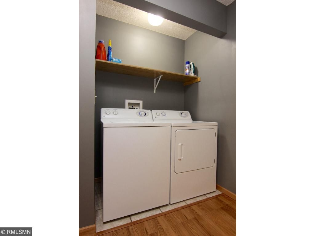 Nice roomy laundry area with huge walking closet space for extras.
