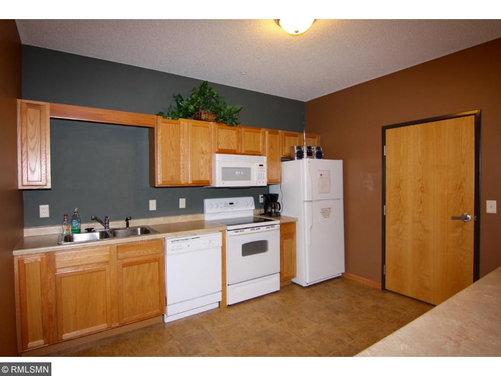 This is the kitchen that is attached to the two party rooms.