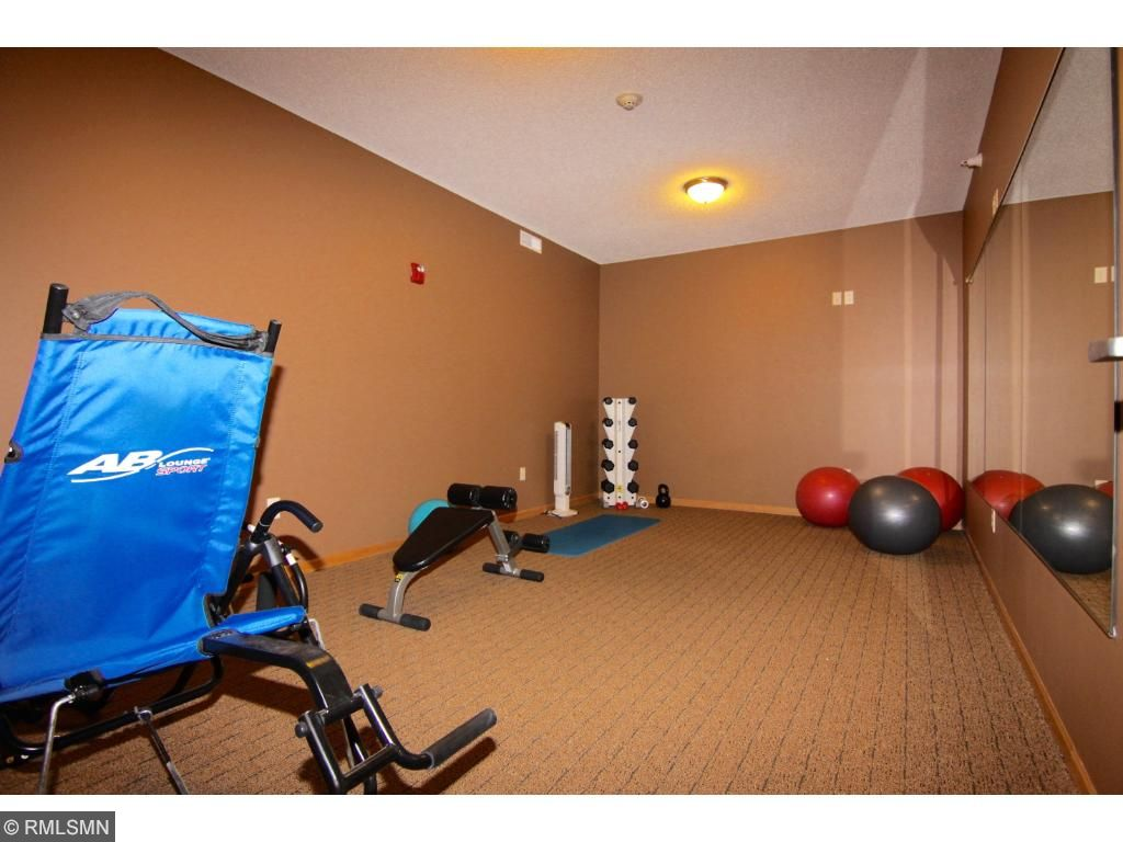 This is one of two workout rooms on the first level.