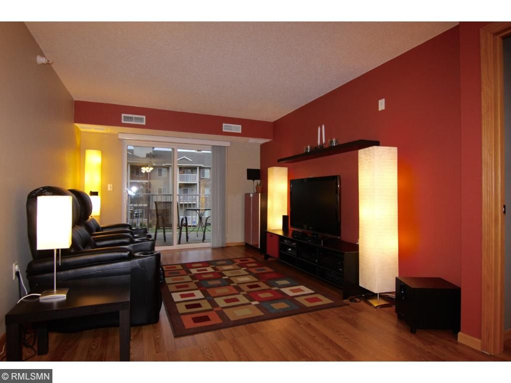 The color choices make the living room warm and cozy.