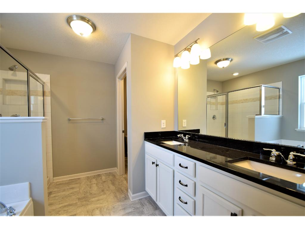 Great sized bedrooms.  Photos are of same floor plan.  Options and color selections will vary.
