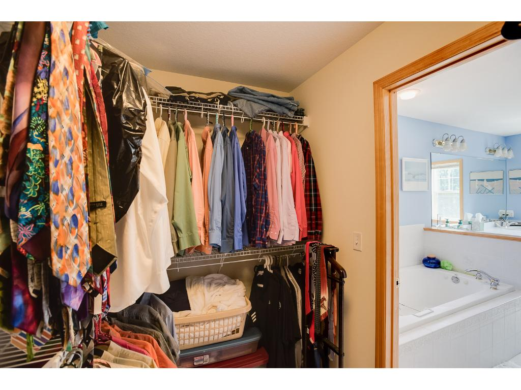 There is a large walk-in closet for the master bedroom.