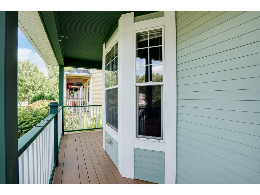 There is a newly repainted front deck to relax on and enjoy your morning coffee!