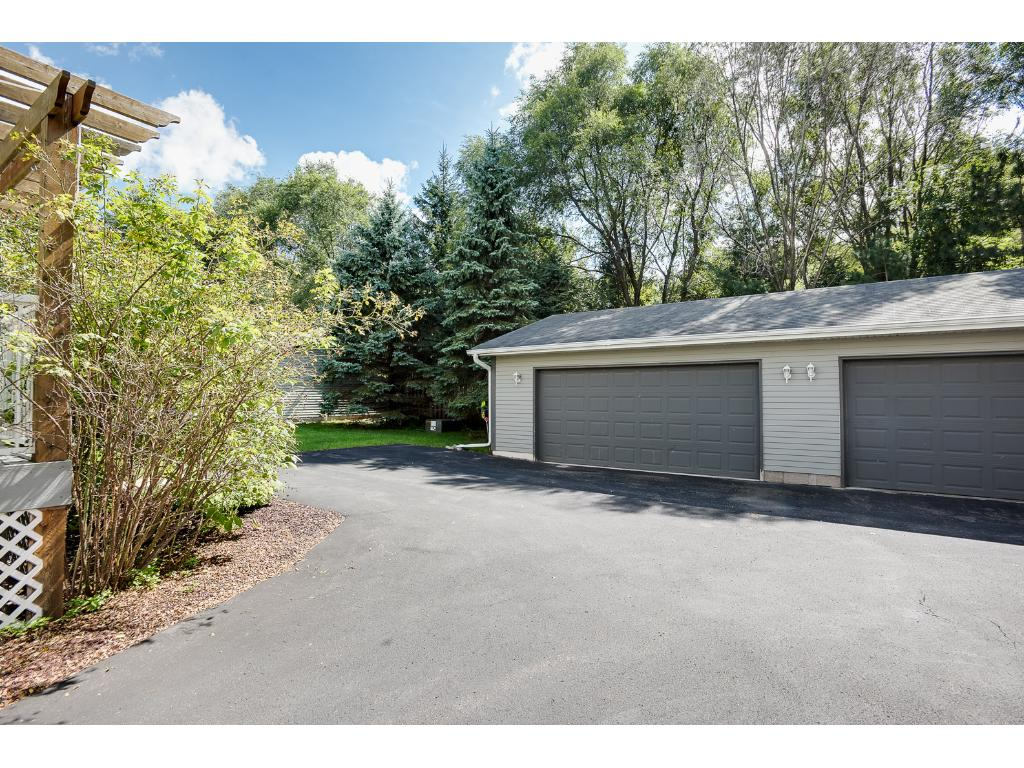 A two-car garage is available and has plenty of extra space for storage. The garage floor is particularly nice!
