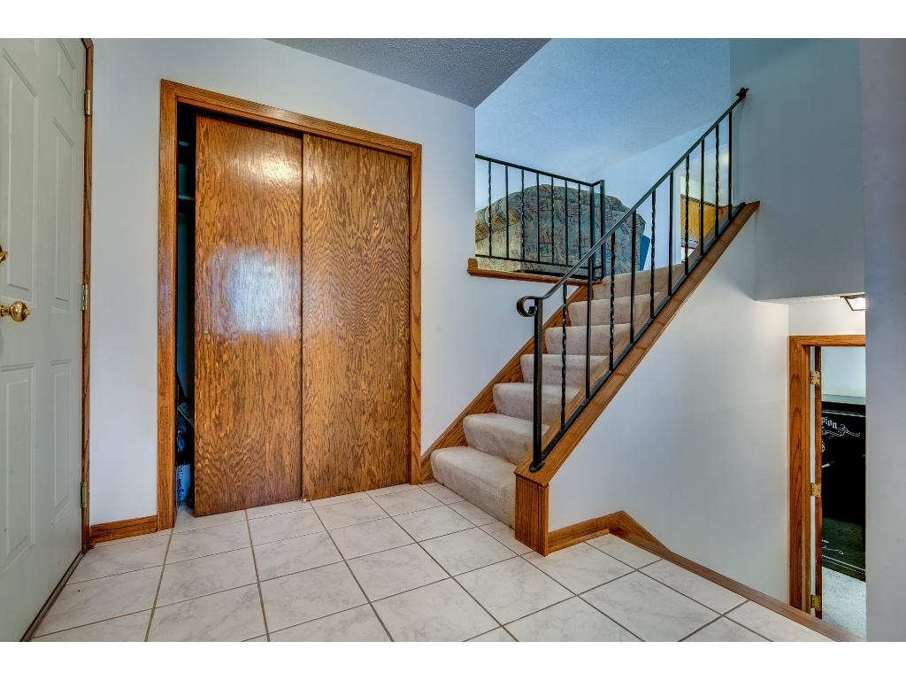Spacious entry way with storage!