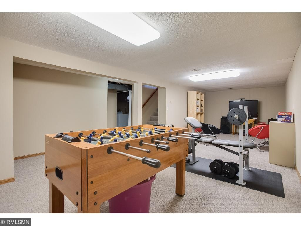 Lower level game area and family room