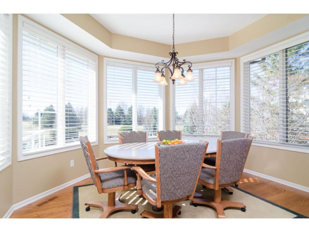 Enjoy panoramic views from the oversized windows in the Informal Dining Area. This area easily seats 10-12 for entertaining and there is easy access to the deck.