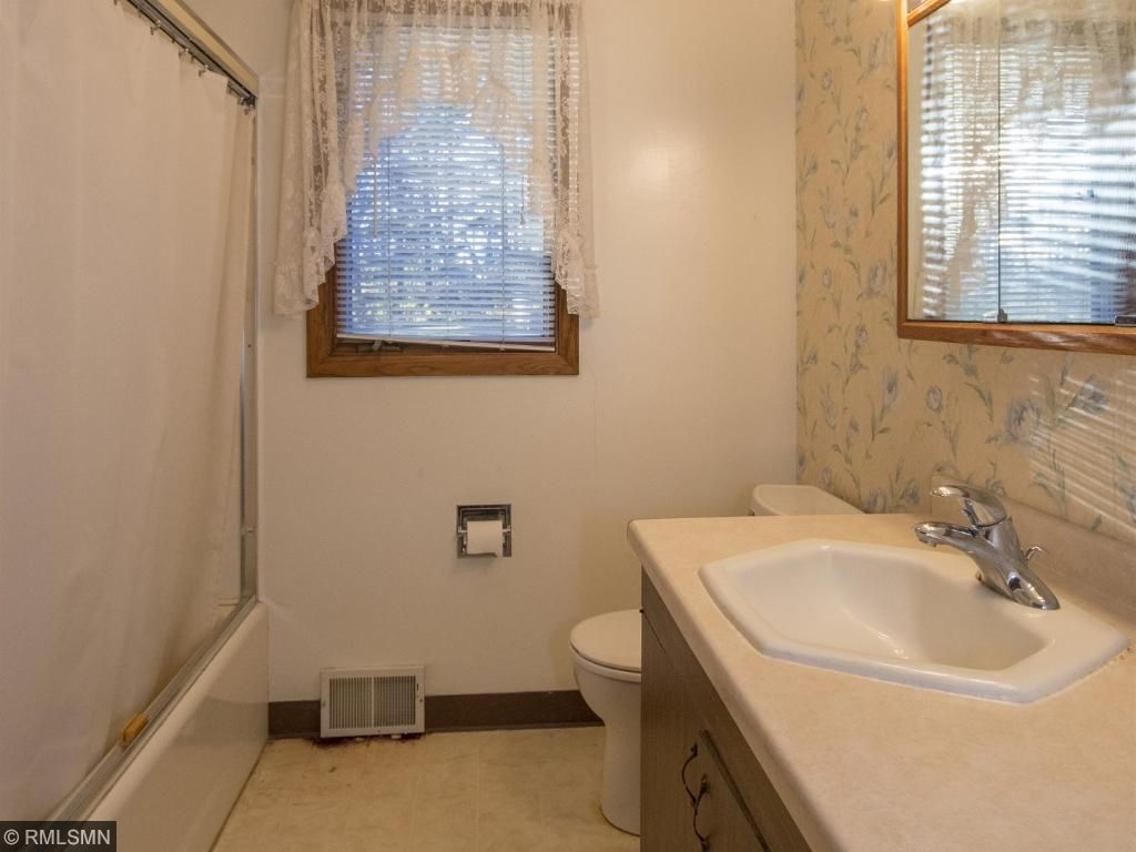 Main floor full bath with large counter space. 1623 Highway 2, Two Harbors, MN