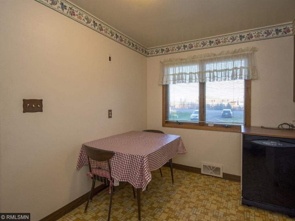 The kitchen is eat-in with a large window overlooking the front yard. 1623 Highway 2, Two Harbors, MN