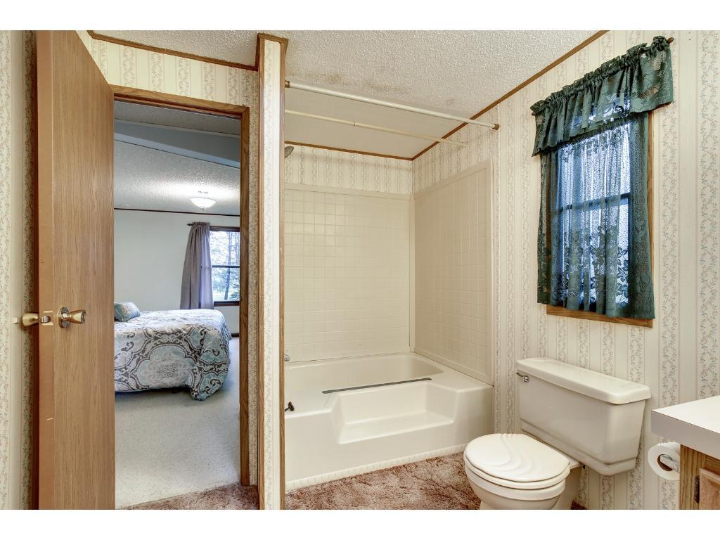 Master Bath shower and tub area.